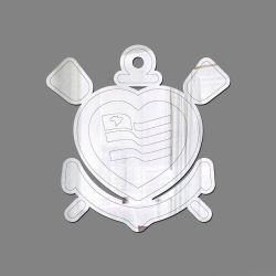 Corinthians - Espelho Decorativo Logo Coração