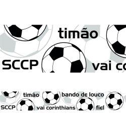 Corinthians - Faixa de Parede Dizeres