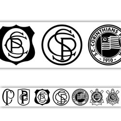 Corinthians - Faixa de Parede Vintage Branco