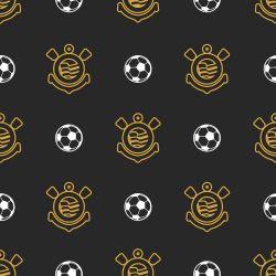 Corinthians - Papel de Parede Bolas Black