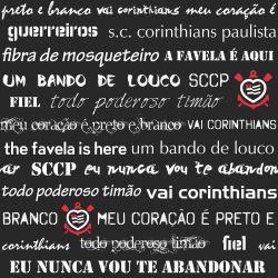 Corinthians - Papel de Parede Dizeres Black