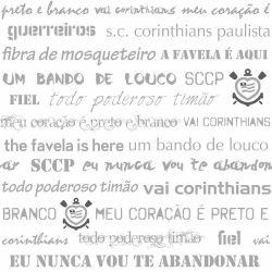 Corinthians - Papel de Parede Dizeres Gray