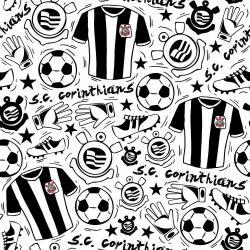 Corinthians - Papel de Parede Doodle