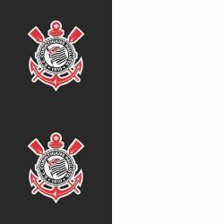 Corinthians - Papel de Parede Faixas Preto