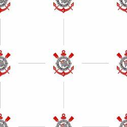 Corinthians - Papel de Parede Pattern Branco