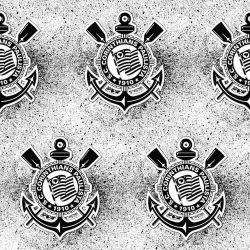 Corinthians - Papel de Parede Respingos Black