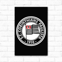 Corinthians - Placa Decorativa 1920 Black