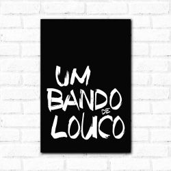 Corinthians - Placa Decorativa Bando de Louco