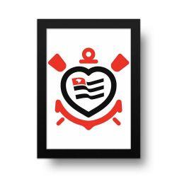 Corinthians - Placa Decorativa Coração