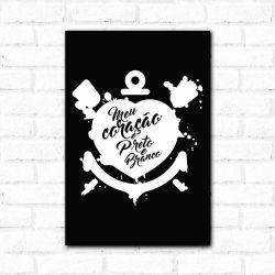 Corinthians - Placa Decorativa Coração Peb