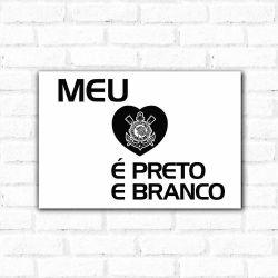 Corinthians - Placa Decorativa Coração Sport