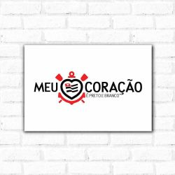 Corinthians - Placa Decorativa Coração Thin