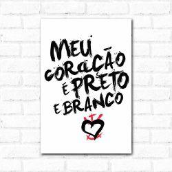 Corinthians - Placa Decorativa Coração Urban