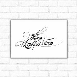 Corinthians - Placa Decorativa Fibra Mosqueteiro