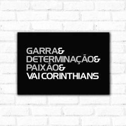 Corinthians - Placa Decorativa Garra
