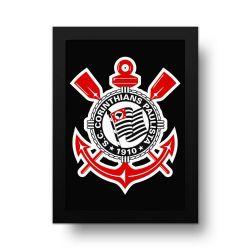 Corinthians - Placa Decorativa Logo Preto