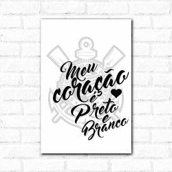 Corinthians - Placa Decorativa Meu Coração