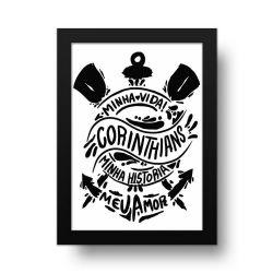 Corinthians - Placa Decorativa Minha Vida