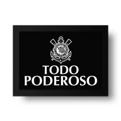 Corinthians - Placa Decorativa Todo Poderoso Peb
