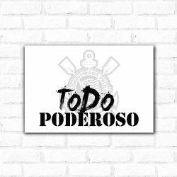 Corinthians - Placa Decorativa Todo Poderoso Urban