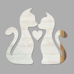 Espelho Decorativo Cats in Love