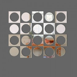 Espelho Decorativo Círculos retrô