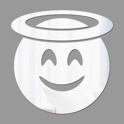 Espelho Decorativo Emoji Anjinho