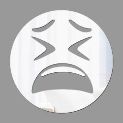 Espelho Decorativo Emoji Apreensivo
