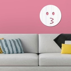 Espelho Decorativo Emoji Assovio