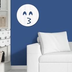 Espelho Decorativo Emoji Beijo