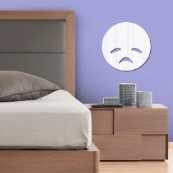 Espelho Decorativo Emoji Desanimado