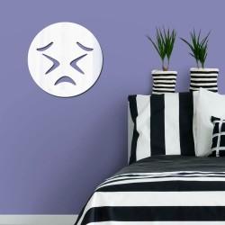 Espelho Decorativo Emoji Frustrado