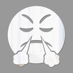 Espelho Decorativo Emoji Furioso