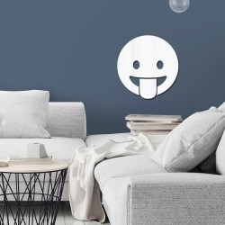 Espelho Decorativo Emoji Língua