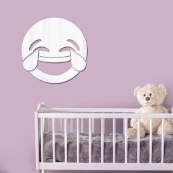 Espelho Decorativo Emoji Morrendo de Rir