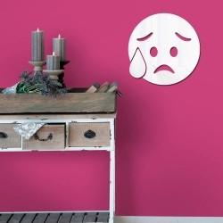 Espelho Decorativo Emoji Preocupado