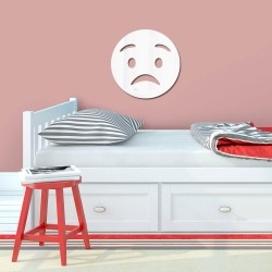 Espelho Decorativo Emoji Surpreso