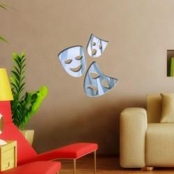 Espelho Decorativo Máscaras