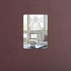 Espelho Decorativo Placa Imagem de Jesus Cristo