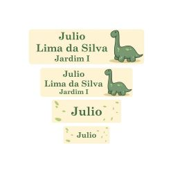 Etiqueta Escolar Dinossauro