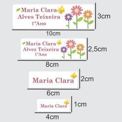 Etiqueta Escolar Flores