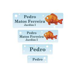 Etiqueta Escolar Peixinho