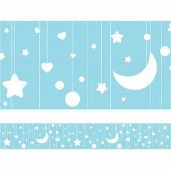 Faixa de Parede Lua e estrelas