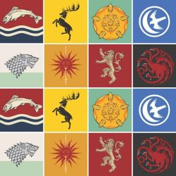 OUTLET - 1 Kit Adesivo para Azulejo Casas Game Of Thrones 20x20 cm