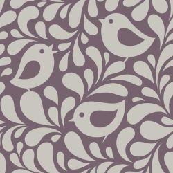 OUTLET - 1 Rolo de Papel de Parede Birds and Leaves 0,60 x 2,50 metros