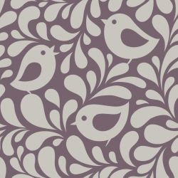 OUTLET - 1 Rolo de Papel de Parede Birds and Leaves 0,60 x 2,50 metros