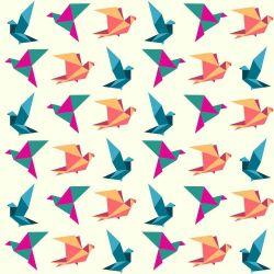 OUTLET - 1 Rolo de Papel de Parede Birds Origami 0,58 x 3,00 metros