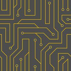 OUTLET - 1 Rolo de Papel de Parede Black Circuit 0,58 x 3,00 metros