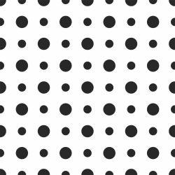OUTLET - 1 Rolo de Papel de Parede Bolinhas PeB 0,60 x 2,50 metros