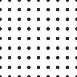OUTLET - 1 Rolo de Papel de Parede Bolinhas Pretas 0,60 x 2,50 metros
